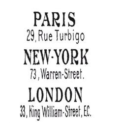 """Tampons caoutchouc """"Paris...."""