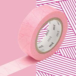 Masking Tape MT 1P Motif trame messy magenta (15 mm x 10 m)
