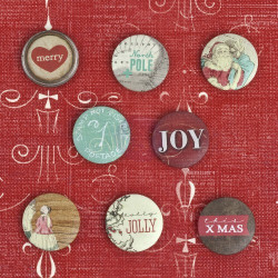 "Set de 8 badges autocollants ""Holiday Jubilee"" de Prima Marteking"