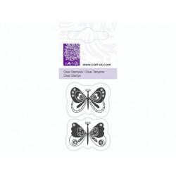 Mini tampon transparent Papillon Fantaisie- Planche 5 x 6 cm Cart us