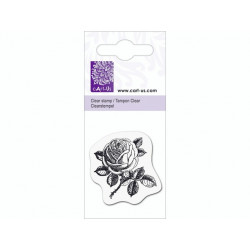 Mini tampon transparent Rose N°1- Planche 5 x 6 cm Cart us