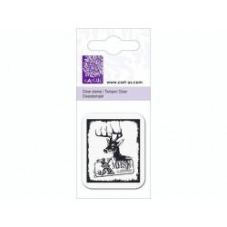 Mini tampon transparent Renne & Voeux- Planche 5 x 6 cm Cart us