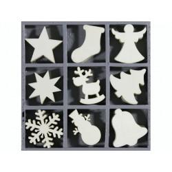 """Boîte bois ornement """"Noël N°4"""" ( 45 pièces) de Knorr Prandell"""