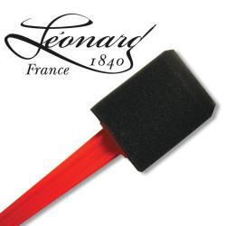Pinceau mousse noir Léonard plat