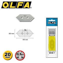 5 Lames de rechange OLFA...