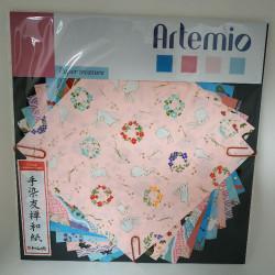 Set de papier Japonais rose...