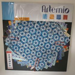 Set de papier Japonais bleu...