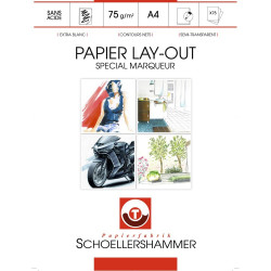 Bloc de 75 feuilles spécial marqueurs Layout A4 75g de SCHOELLERSHAMMER