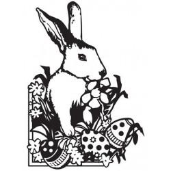 Plaque d'embossage Lapin de Pâques de Darice