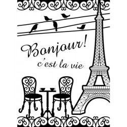 Plaque d'embossage Bistro Français de Darice