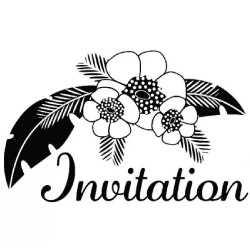 "Tampon bois ""Invitation..."