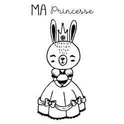 "Tampon bois ""Ma princesse""..."