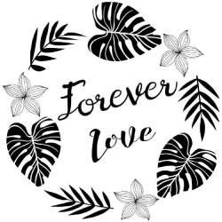 "Tampon bois ""Forever Love""..."