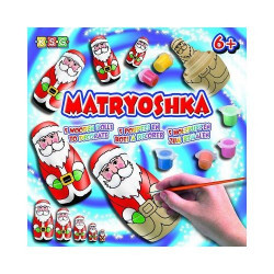 MATRYOSHKA Père Noël - poupée à peindre