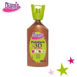 Diam's 3D - Peinture 3D Diam's cuivre nacré 100 ml