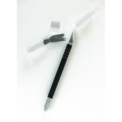 GRAPHO'CUT Couteau N°1 corps noir avec grip anti glisse avec capuchon + 5 lames n°1