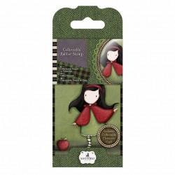 """Mini tampons caoutchouc monté mousse """"Santoro - Gorjuss' Little Red N°14"""" de Docrafts"""