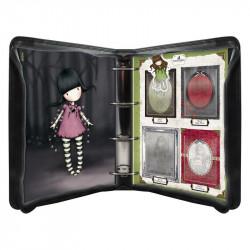 Classeur de rangement pour mini tampons caoutchouc appartenant à la collection Gorjuss de Docrafts (1 mini tampon Gorjuss' Ruby)