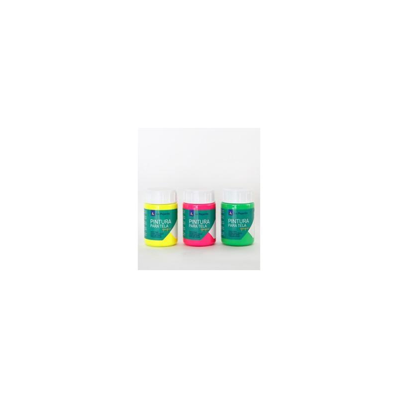 Peinture Texil Opaque Fluo pour tissus en pot (35ml) de La Pajarita