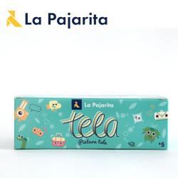 Kit peinture pour tissu de La Pajarita (6x25ml)