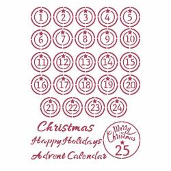 """Pochoir A4 """"Christmas..."""