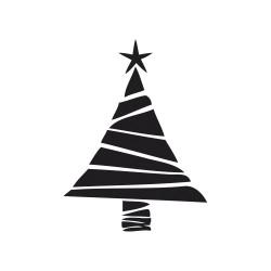 "Tampon bois rond stempel de Rayher ""Arbre de Noël"""