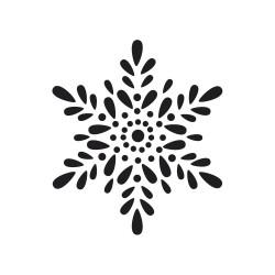 """Tampon bois rond stempel de Rayher """"Flocon de neige"""""""