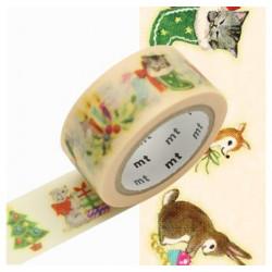 Masking Tape MT Motif Noël tradition / Christmas animals (20mm x 7m)