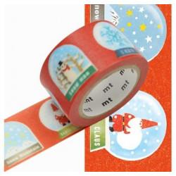 Masking Tape MT Motif Boules à neige / snow globe (25mm x 7m)