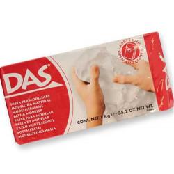 Pâte à modeler autoducissante DAS 1kg (blanc)
