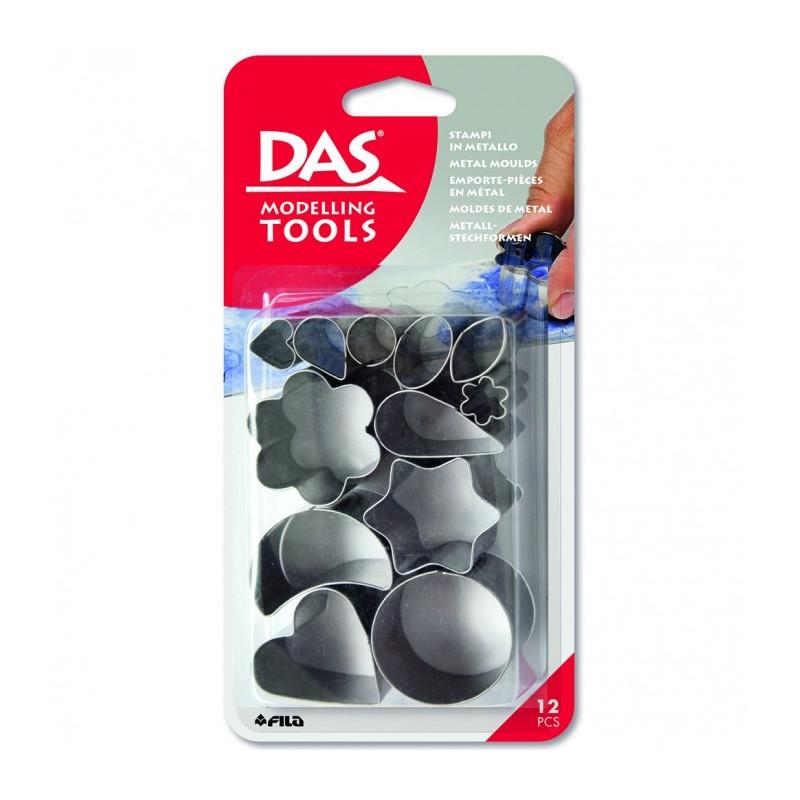 Emporte-pièces métal Idea Mix de Das (12 pcs)