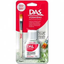 Kit vernis vitrificateur et pinceau 'Das Idea Mix' de DAS (75 ml)
