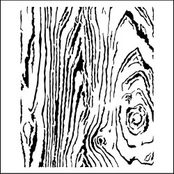 """Pochoir """"woodgrain"""" 30x30 cm de The Crafter's Workshop TCW"""