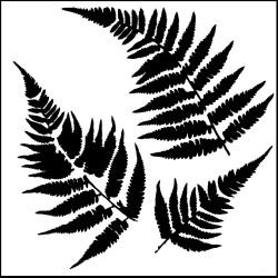"Pochoir ""ferns"" 15X15 cm de The Crafter's Workshop TCW"