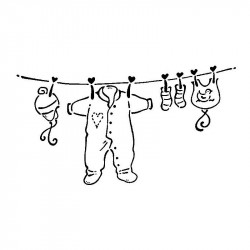 Tampon corde à linge ARTEMIO - 7,5x4 cm de Artemio