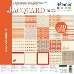 """Bloc de 40 feuilles de papier scrapbooking 30x30 cm Noël Jacquard"""" d'Artemio"""