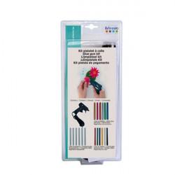 Kit Mini Pistolet à colle et 18 recharges d'Artemio