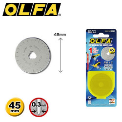 1 lame de rechange découpe droite OLFA  RB45-1