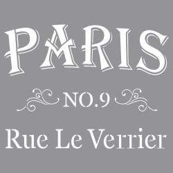 "Pochoir ""Rue Le Verrier"" 30x30 cm de Rayher"