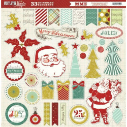 "Set de 33 stickers ""Mistletoe Magic"" de My Mind's Eye"