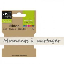 """Ruban """"Moments à partager"""" de Vaessen Creative (2m)"""