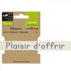 """Ruban """"Plaisir d'offrir"""" de Vaessen Creative (2m)"""