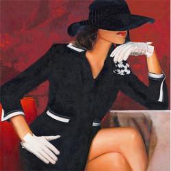 Femme gants blanc - 40x40