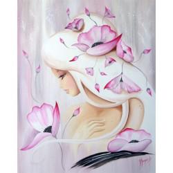Lilou rose poudré - 40x50