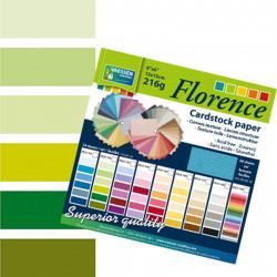 Bloc de papier scrapbooking florence carton 15x15 cm (24 feuilles) teintes verte de Vaessen Creative