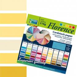 Bloc de papier scrapbooking florence carton 15x15 cm (24 feuilles) teintes jaune de Vaessen Creative