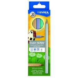 LYRA  Etui de 6 crayons  Metallic Super-FERBY triangulaire