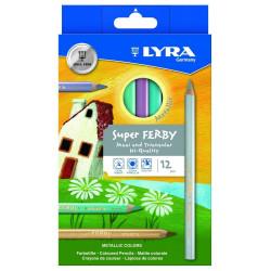 LYRA  Etui de 12 crayons  Metallic Super-FERBY triangulaire