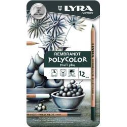 Etui de 12 crayons LYRA Rembrandt Polycolor dégradé de gris