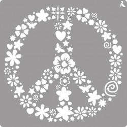 Pochoir Peace de La Pajarita
